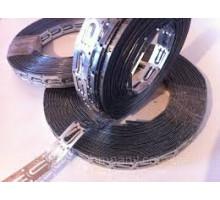 Оцинкованная стальная монтажная лента для крепления кабеля, шаг 2,5 см. теплый пол купить в Киеве по лучшей цене. Доставка по всей Украине. Гарантия. Бесплатный монтаж теплого пола.