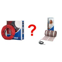 Що краще купувати нагрівальний кабель чи тонкий мат