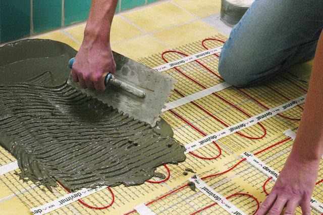 Монтаж теплої підлоги під плитку ціна